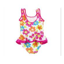 Kleine Mädchen beiläufige gedruckte bunte Badebekleidung