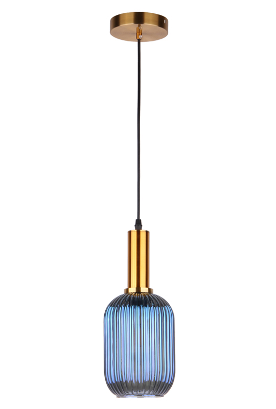 Pendant Lamp Blue Glass