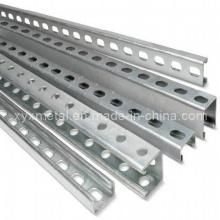 C Shape Steel Profil Abschnitt Slotted Unistrut Channel