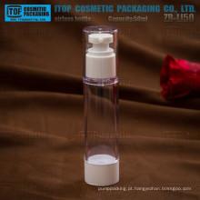 ZB-LI50 50ml high-end cor personalizável magro e alto 50 ml redonda 50ml acrílico airless bomba garrafa