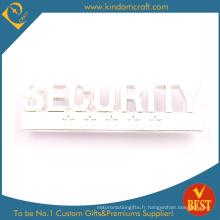 Insigne de police en métal pour la sécurité en provenance de Chine en haute qualité