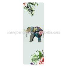 Wholesale Custom NBR Printed Yoga Mat Eco Friendly microfiber yoga mat 6mm
