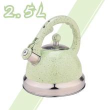 Green Mirror Stainless Steel Whistling Tea Kettle