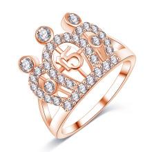 CZ Diamond Loyal Crown Rings for Women (CRI01004)