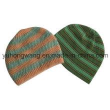 Señora de acrílico de acrílico de la manera del invierno de la manera hizo punto el sombrero / el casquillo
