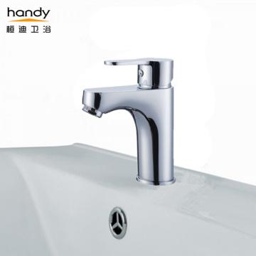 Single-handle short spout deck mounted basin mixer faucets