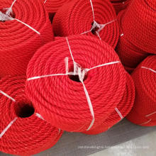 Polyethylene fishing rope poly rope for marine usage packed in coil