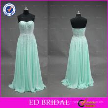ED Bridal Sparkle Simple Sweetheart Neckline Zipper Beaded A Line Chiffon Long Prom Dress 2017