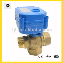 """1/2"""" and 3/4"""" Brass 3way T flow ADC9-24V electric motor valve for solar hearter system"""