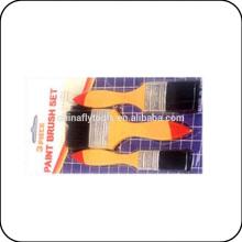 3pc bristle paint brush set