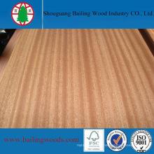 Natural Red Oak/Sapele Veneer Plywood for Furniture