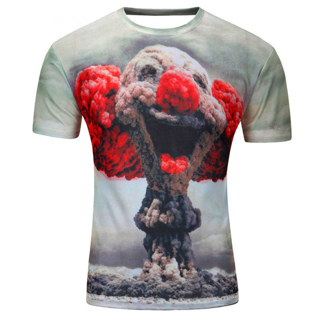 Mens fitness polyester shirt summer style t-shirts