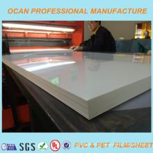 Folha de PVC branco brilhante para material de impressão