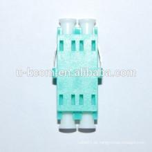 Adaptador de fibra óptica OM3 LC de color Aqua
