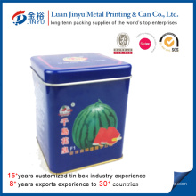 Square Shaped Metal Seed Packaging Box