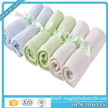 Toallas para baño Toallas ultra suaves Toallitas hipoalergénicas de bambú para bebé sensibles al tacto 10x10 pulgadas
