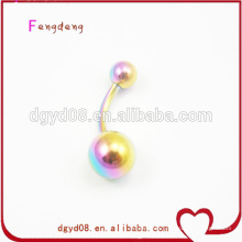 Rainbow stainless steel navel belly ring wholesale
