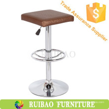Classic Retro Bar Chair PU Leather swivel chair with footrest