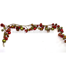 Christmas garland decorations with colorful balls