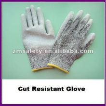 Grauer PU-Palmen-überzogener schnittbeständiger Handschuh / Antischnitt-Handschuh ZMR426