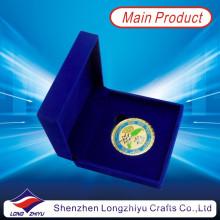 Gold Plating Coin Moeda do Corpo de Fuzileiros Navais com Velvet Box (LZY1300069)