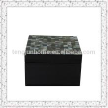 Eco Friendly Black MOP shell Boîte de rangement avec peinture noire