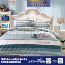La fábrica de oro del proveedor que vende directamente beddings imprimió el juego de cama del edredón de los niños del algodón