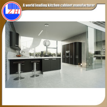Negro Custom L-Shaped colores de la pintura de los gabinetes de cocina