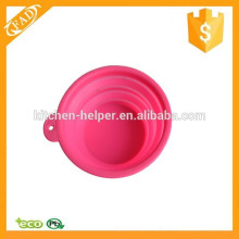 Travel Use Clever Silicone Folding Retractable Portable Travel Pet Dog Bowl