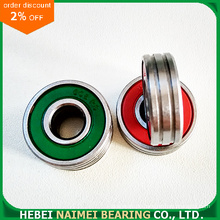 Green Plastic Seal Bearing 608-2RS mit doppelten Nuten