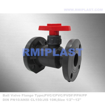 Bride UPVC Ball Valve JIS 10K