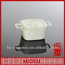 Ceramic mini casserole, mini casserole with lid