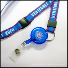 Les lanières rétractables d'insigne les longes faites sur commande pour le détenteur de carte d'identification