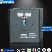Affichage de sortie 220 volts à tension volumique Stabilisateur de tension Régulateur de tension automatique AVR 8000VA