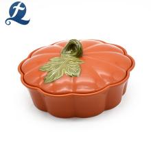 China High Quality Günstige Einzigartige Gedruckte Kürbis Form Keramik Kochtopf