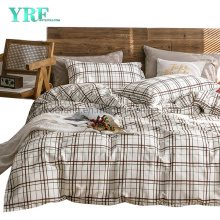 Home Textile Cotton Fabric Bedding Set New Product Fashion Style Comfortable Ivory Plaid