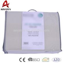 Einteiliges Vlies-Spannbettlakensatz des Normallacks der Farbe 130gsm preiswerter Doppel, gesetzter Bettlakensatz