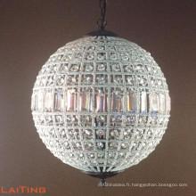 Classique Ronde Cristal Graupel Lustre Vintage Pendaison Globe Pendentif Lumière 71153