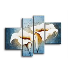 4 Panels home decoration modern tulip canvas painting