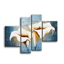 4 Панели домашнее украшение самомоднейшая картина холстины тюльпана