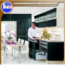 Mobilier en MDF Black Acrylic Kitchen Cabinet (personnalisé)