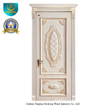European Style Wood Door with Carving (white color)