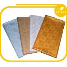 Dernières Party Wear Robes de Soirée Pour Les Filles Filé de Coton Textile Tissu à Tricoter FEITEX Bazin