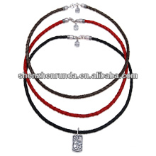 china manufacturer 2014 fashion leather necklace ,colourful pendent necklace