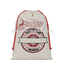 2017 in stock hot sell high quality cheap price canvas Christmas gift Santa sack wholesale