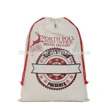 2017 в наличии горячая распродажа высокое качество дешевой цене холст Рождественский подарок Санта мешок оптовая