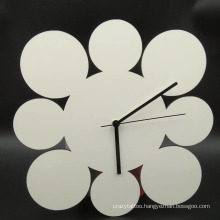 Personalized Sublimation Collage Frame with Round Wall Clock
