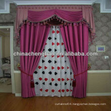cheap purple fashion linen curtain diamond lattice pattern