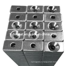 Блочные магниты с противотоком