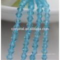 Perles de verre décoratives, perles de verre en placets en verre, bicone, directement en usine